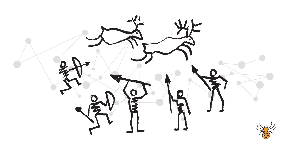 infographic design example - cave drawings