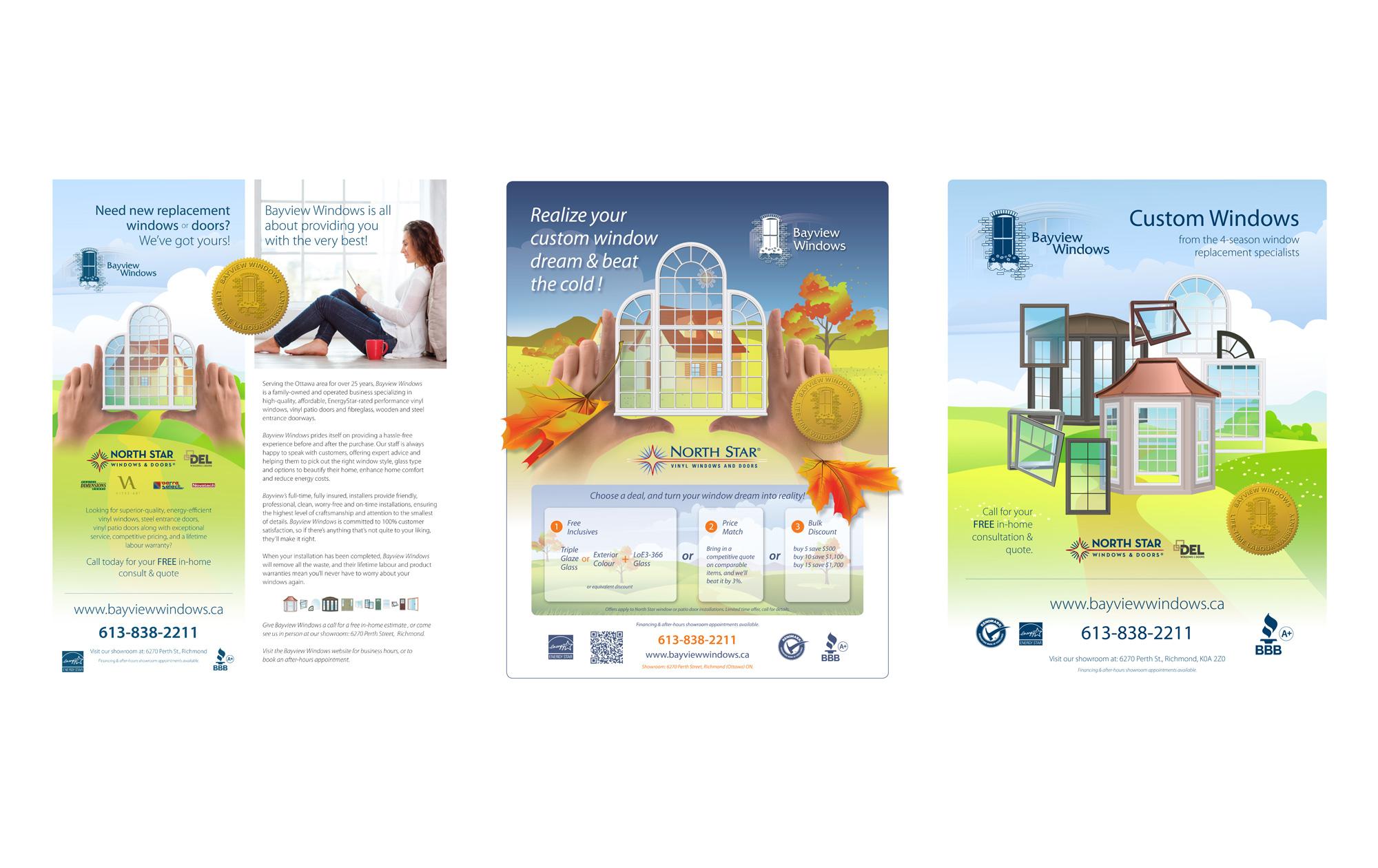 Ottawa Advertising - Bayview Windows - Grouping of ads