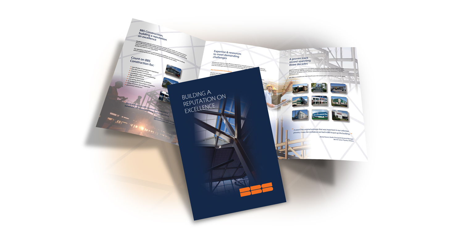 Ottawa Print Design - Brochure - BBS Construction