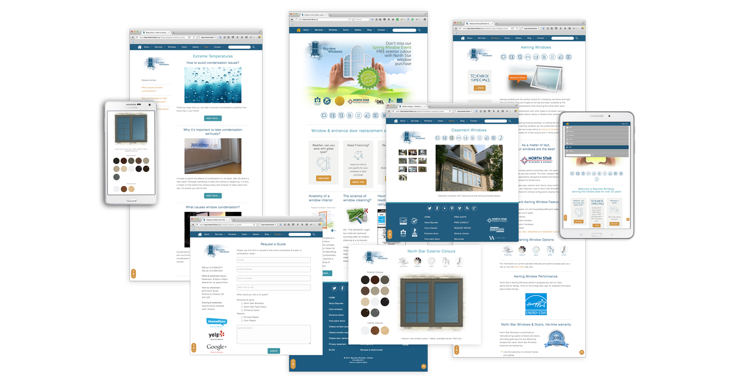 Ottawa website development - expressionengine -  Bayview Windows II